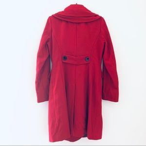 Guess Jackets & Coats - Guess NWOT Red Wool Blend Peacoat